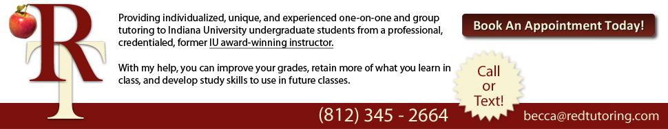 Red Tutoring at Indiana University in Bloomington - Call 812-345-2664 today!